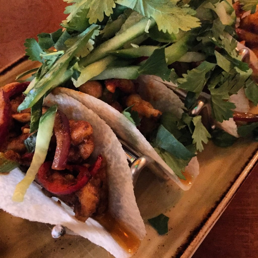 The Kung-Pao Chicken Jicama Street Tacos I got from PF Chang's.